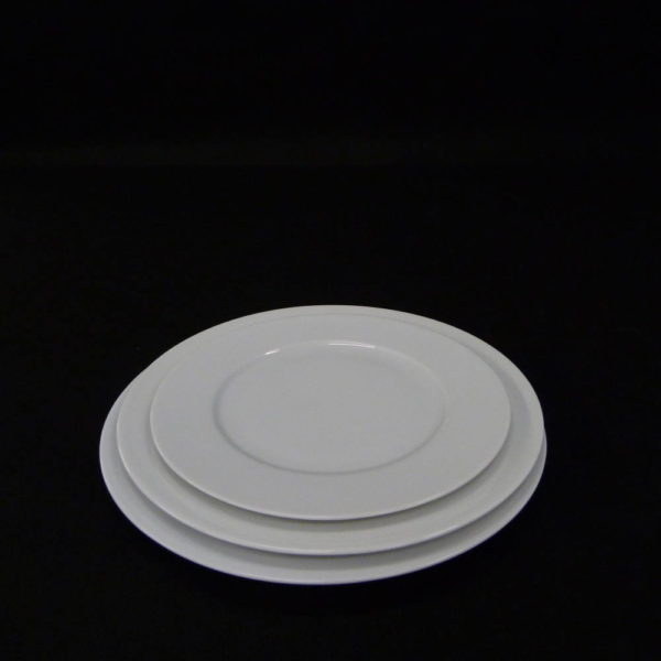 Assiette plates blanche