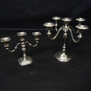 chandeliers argenté