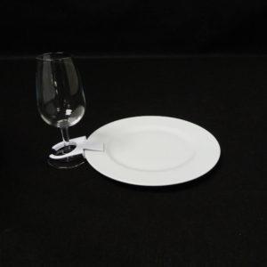 clips support verre sur assiette