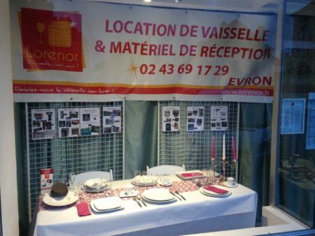 présentation location de vaisselle à Fresnay sur sarthe (72)
